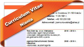 CV Niania
