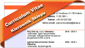 CV Kierownik Sklepu