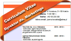 CV Dyrektor ds. Marketingu